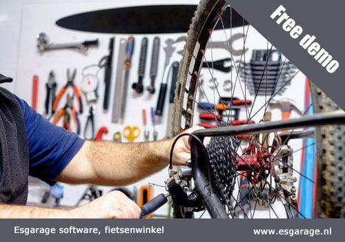 fietsenwinkel kassa, software fietsenwinkel, kassasysteem fietsenwinkel, garage software