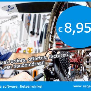 Fietsenwinkel kassasysteem, fietsenwinkel kassa software, fietsenwinkel kassa programma