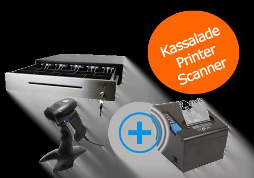 barcodescanner, printer, kassalade